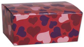 Valentine's Paper Ballotin Boxes, 4 1/8 x 2 5/8 x 1 7/8