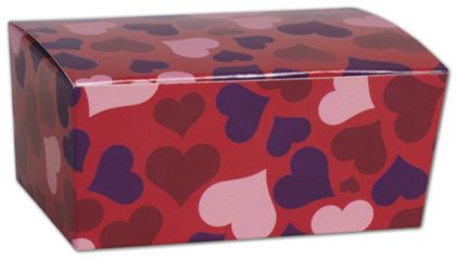 "Valentine's Paper Ballotin Boxes, 4 1/8 x 2 5/8 x 1 7/8"""