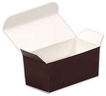 Brown Paper Ballotin Boxes, 2 5/8 x 1 5/16 x 1 1/4