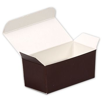 Brown Paper Ballotin Boxes, 2 5/8 x 1 5/16 x 1 1/4