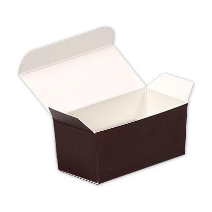 """Brown Paper Ballotin Boxes, 2 5/8 x 1 5/16 x 1 1/4"""""""