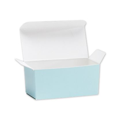 Light Blue Ballotin Candy Boxes, 2 5/8x1 5/16x1 1/4""