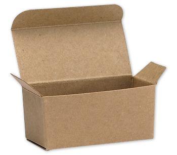 Kraft Ballotin Candy Boxes, 2 5/8 x 1 5/16 x 1 1/4