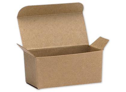 "Kraft Ballotin Candy Boxes, 2 5/8 x 1 5/16 x 1 1/4"""