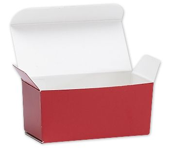 Red Ballotin Candy Boxes, 2 5/8 x 1 5/16 x 1 1/4