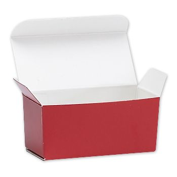 Red Ballotin Candy Boxes, 2 5/8 x 1 5/16 x 1 1/4