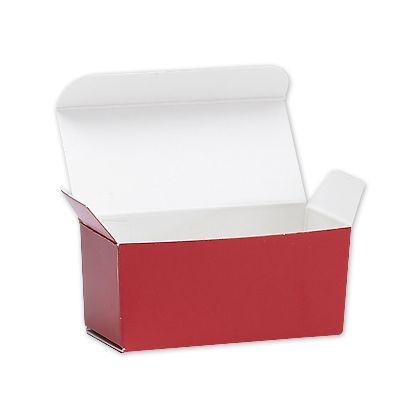 Red Ballotin Candy Boxes, 2 5/8 x 1 5/16 x 1 1/4""
