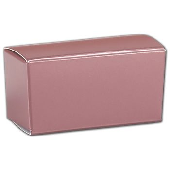 Rose Gold Ballotin Boxes, 2 5/8 x 1 5/16 x 1 1/4