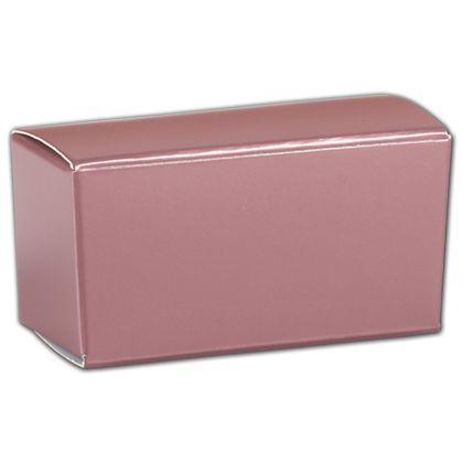 "Rose Gold Ballotin Boxes, 2 5/8 x 1 5/16 x 1 1/4"""
