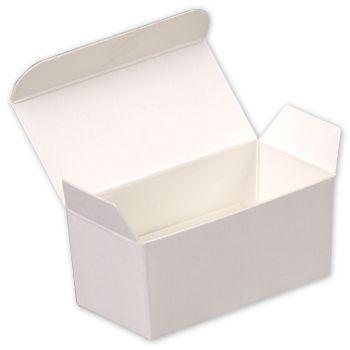 White Paper Ballotin Boxes, 2 5/8 x 1 5/16 x 1 1/4