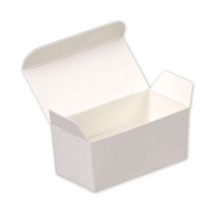 """White Paper Ballotin Boxes, 2 5/8 x 1 5/16 x 1 1/4"""""""