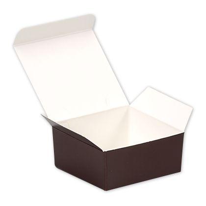 """Brown Paper Ballotin Boxes, 2 5/8 x 2 1/2 x 1 1/4"""""""