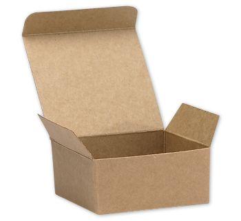 Kraft Ballotin Candy Boxes, 2 5/8 x 2 1/2 x 1 1/4