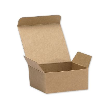 "Kraft Ballotin Candy Boxes, 2 5/8 x 2 1/2 x 1 1/4"""