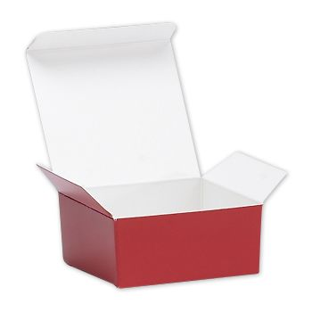 Red Ballotin Candy Boxes, 2 5/8 x 2 1/2 x 1 1/4