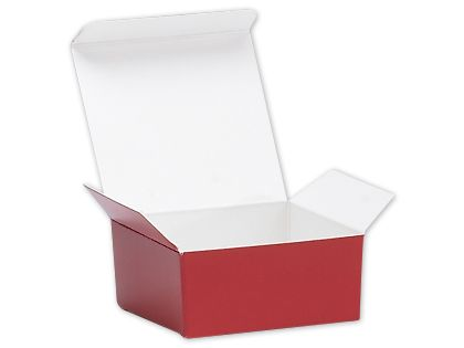 Red Ballotin Candy Boxes, 2 5/8 x 2 1/2 x 1 1/4""