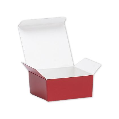 "Red Ballotin Candy Boxes, 2 5/8 x 2 1/2 x 1 1/4"""
