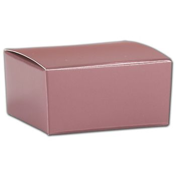 Rose Gold Ballotin Boxes, 2 5/8 x 2 1/2 x 1 1/4