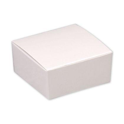 """White Paper Ballotin Boxes, 2 5/8 x 2 1/2 x 1 1/4"""""""