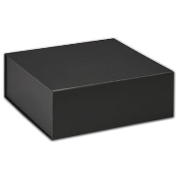 Black Magnetic Closure Gift Boxes, 8 x 8 x 3 1/4