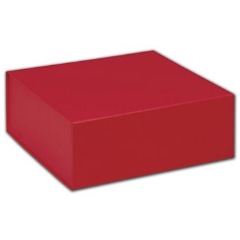 Red Magnetic Closure Gift Boxes, 8 x 8 x 3 1/4