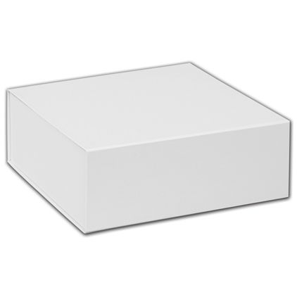 """White Magnetic Closure Gift Boxes, 8 x 8 x 3 1/4"""""""