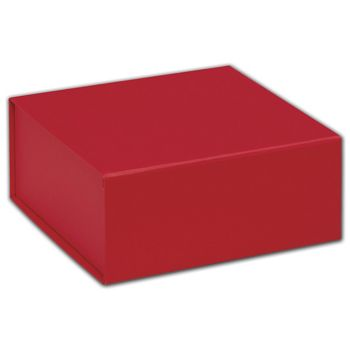 Red Magnetic Closure Gift Boxes, 6 x 6 x 2 3/4