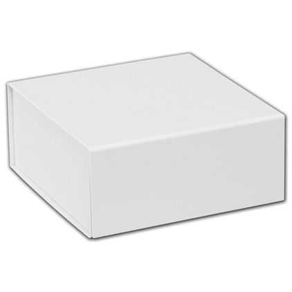 """White Magnetic Closure Gift Boxes, 6 x 6 x 2 3/4"""""""