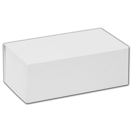 """White Magnetic Closure Gift Boxes, 7 x 4 x 2 3/4"""""""