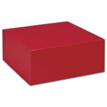 Red Magnetic Closure Gift Boxes, 10 x 10 x 4 1/2