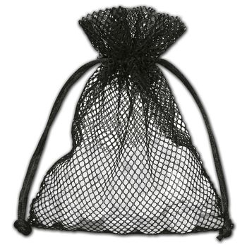 Black Mesh Pouches, 5 x 6 1/2