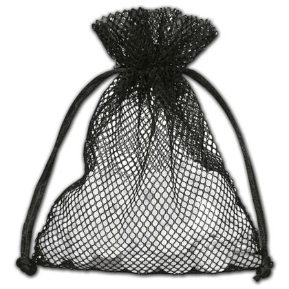 Black Mesh Pouches, 5 x 6 1/2""