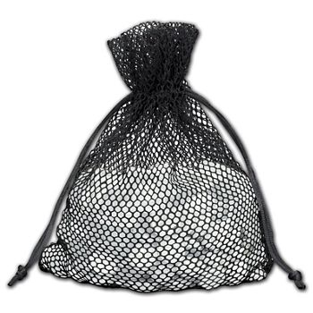 Black Mesh Pouches, 5 1/2 x 9""