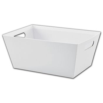 White Market Trays, 14 x 9 x 6