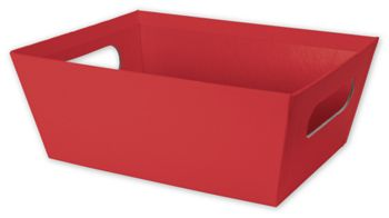 Red Market Trays, 9 x 7 x 3 1/2