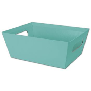 Robin's Egg Blue Market Trays, 9 x 7 x 3 1/2""