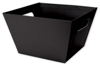 Black Square Market Trays, 8 x 8 x 5
