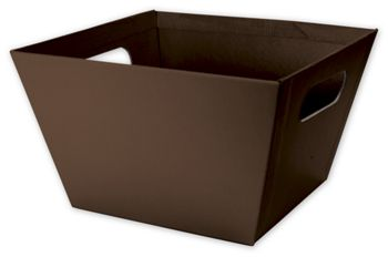 Brown Square Market Trays, 8 x 8 x 5
