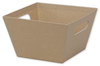 Kraft Square Market Trays, 8 x 8 x 5