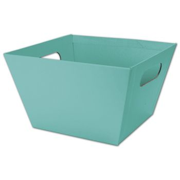 Robin's Egg Blue Square Market Trays, 8 x 8 x 5