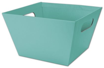 Robin's Egg Blue Square Market Trays, 8 x 8 x 5""