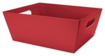 Red Market Trays, 12 x 9 1/2 x 4 1/2