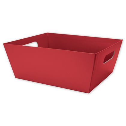 Red Market Trays, 12 x 9 1/2 x 4 1/2""