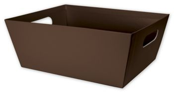 Brown Market Trays, 12 x 9 1/2 x 4 1/2