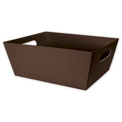 Brown Market Trays, 12 x 9 1/2 x 4 1/2""