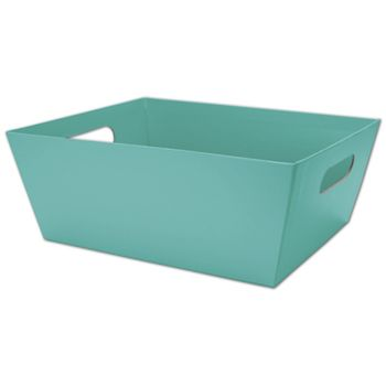 Robin's Egg Blue Market Trays, 12 x 9 1/2 x 4 1/2""