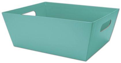 "Robin's Egg Blue Market Trays, 12 x 9 1/2 x 4 1/2"""