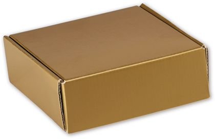 Gold Metallic Decorative Mailers, 6 x 6 x 2""