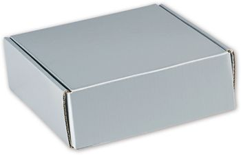 Silver Metallic Decorative Mailers, 6 x 6 x 2