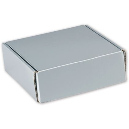 Silver Metallic Decorative Mailers, 6 x 6 x 2""